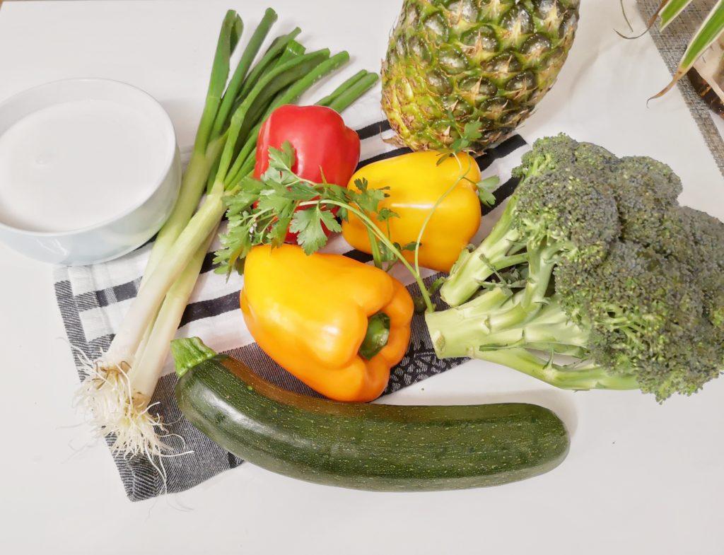 Gemüse Curry Zutaten